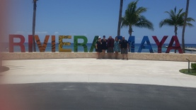 Being tourists and having our photo taken at the Riveria Maya sign